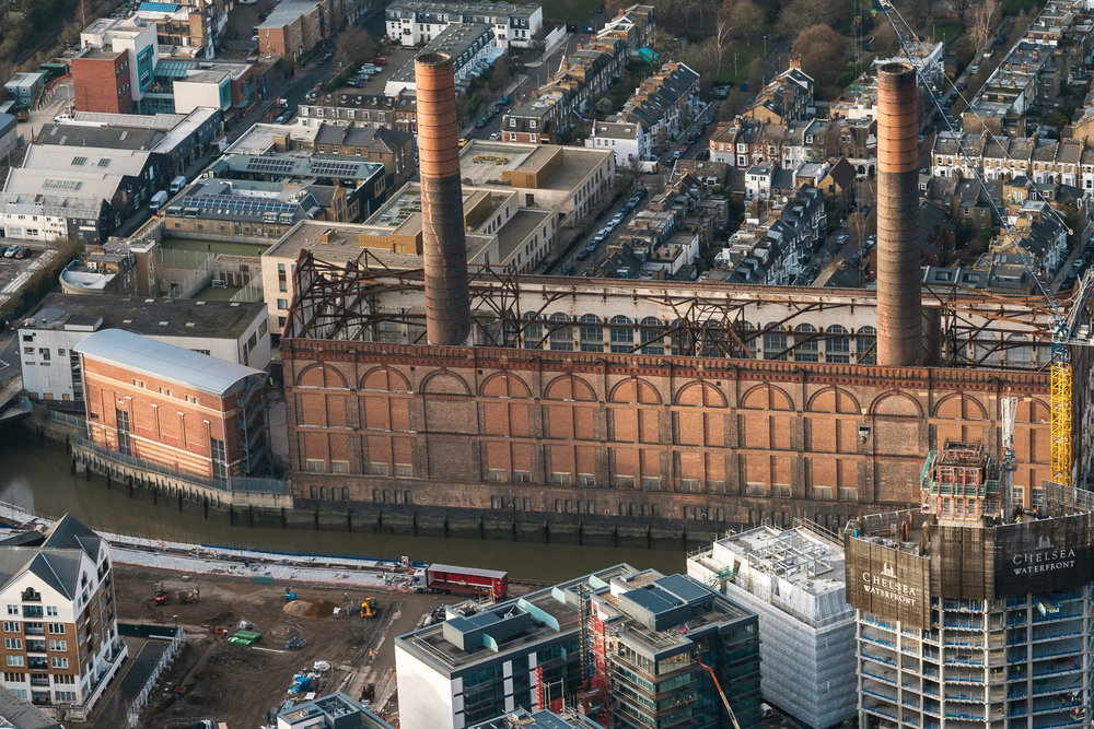 Lots Road Power Station, Chelsea Creek. Originally allowed to switch District line trains from steam to electricity. Being redeveloped now. X-T2 ISO800 50-140mm f5.0 1/1000s