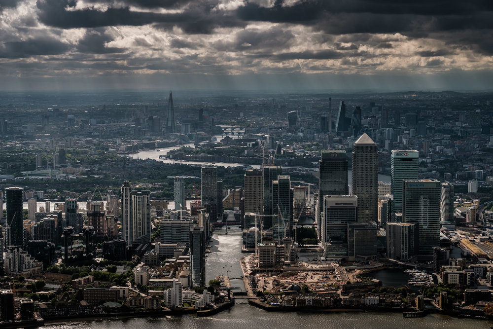 Welcome to London- Canary Wharf and beyond - with 50-140mm f7.1 @52mm, f2.8, iso320, 1/1250s