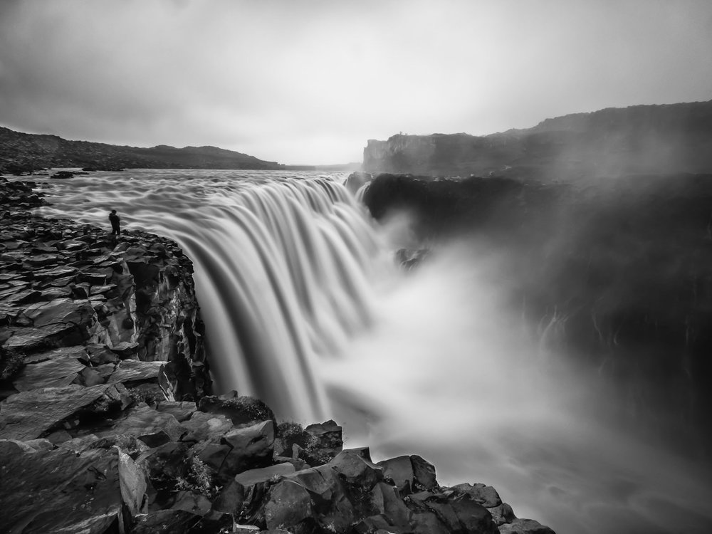 the engineer... the lone hiker standing next to the most powerful waterfall in Europe reminded me of the openning scene from the Prometheus movie. The Dettifoss fall is about 45m in height and about 100m wide. (XF 10-24mm f4 at 10mm 6.5s f11 ISO200)
