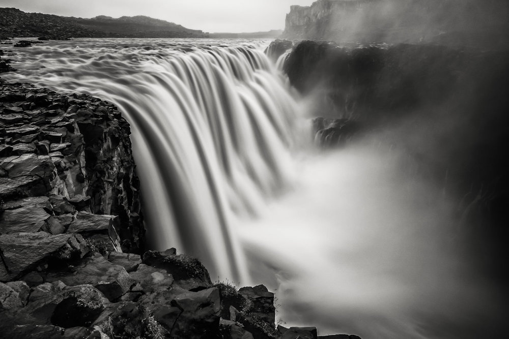 Dettifoss - the most powerful waterfall in Europe. The Dettifoss fall is about 45m in height and about 100m wide (XF 10-24mm f4 at 33mm 6.5s f11 ISO200)