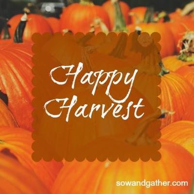 happy harvest sowandgather.com
