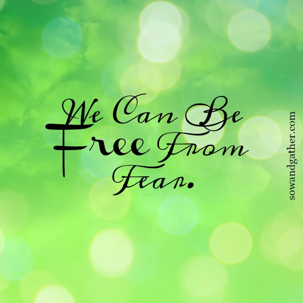 #freedom #love #sowandgather We can be free from fear