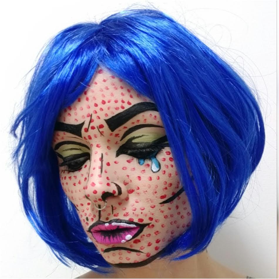 Pop art Comic Strip Makeup Tutorial — Cliptomania | High-End ...