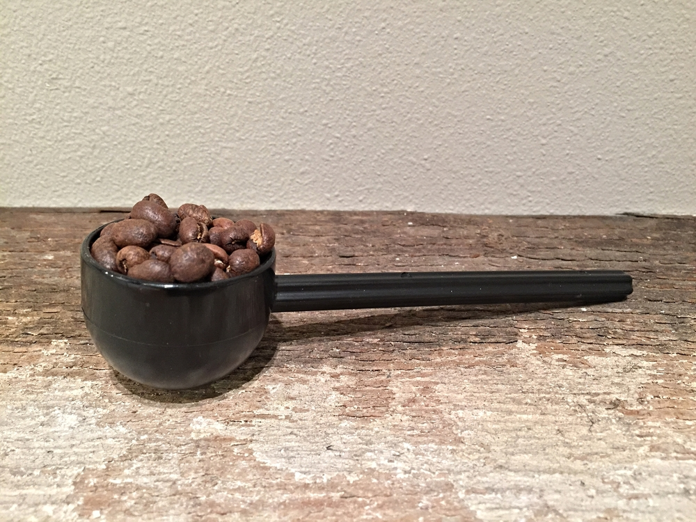 Measure out your beans (17g or a heaping scoop)
