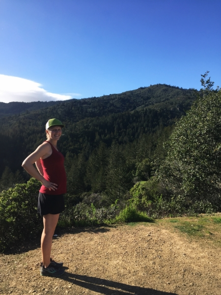 after a long run, third trimester, Mount Tamalpais