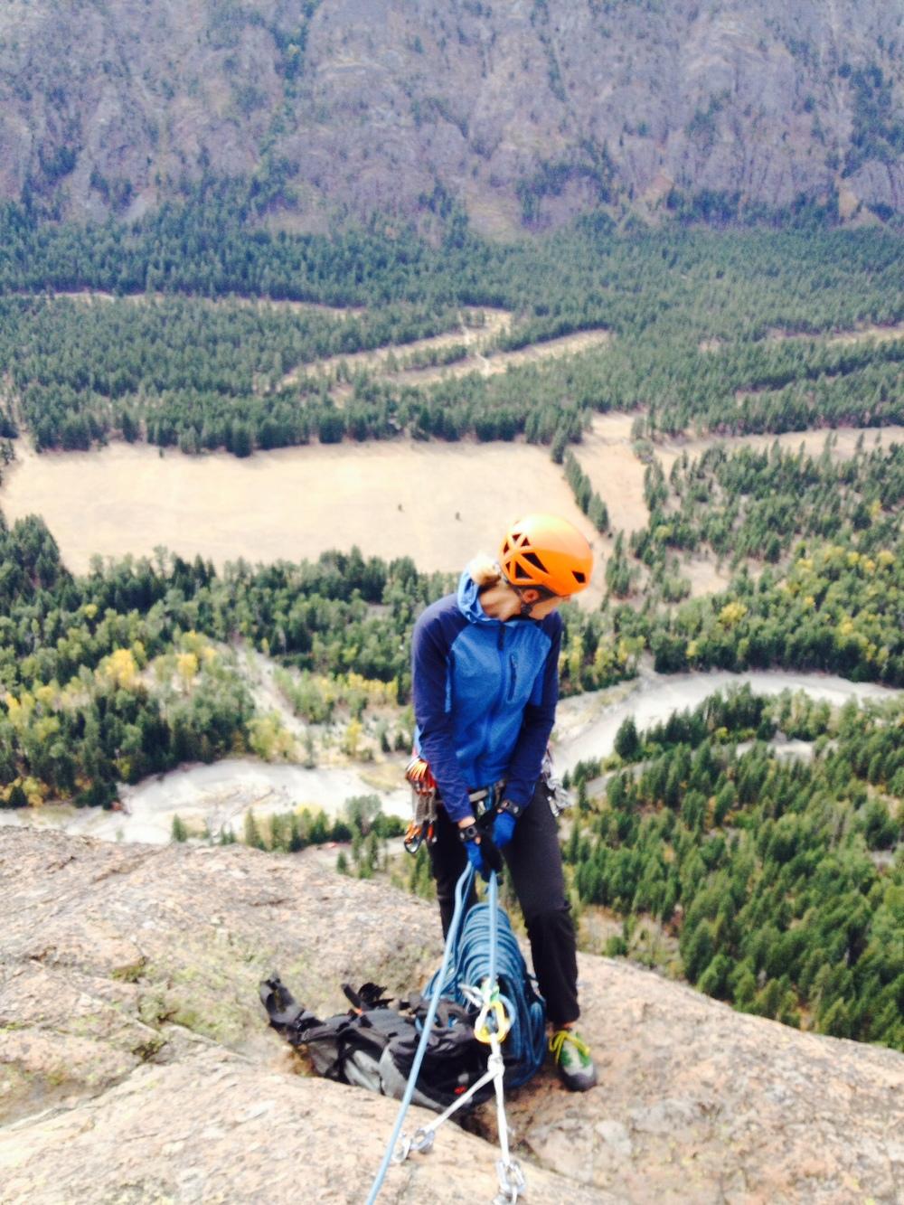 rock guiding, seven weeks pregnant, cr. J. Hoch