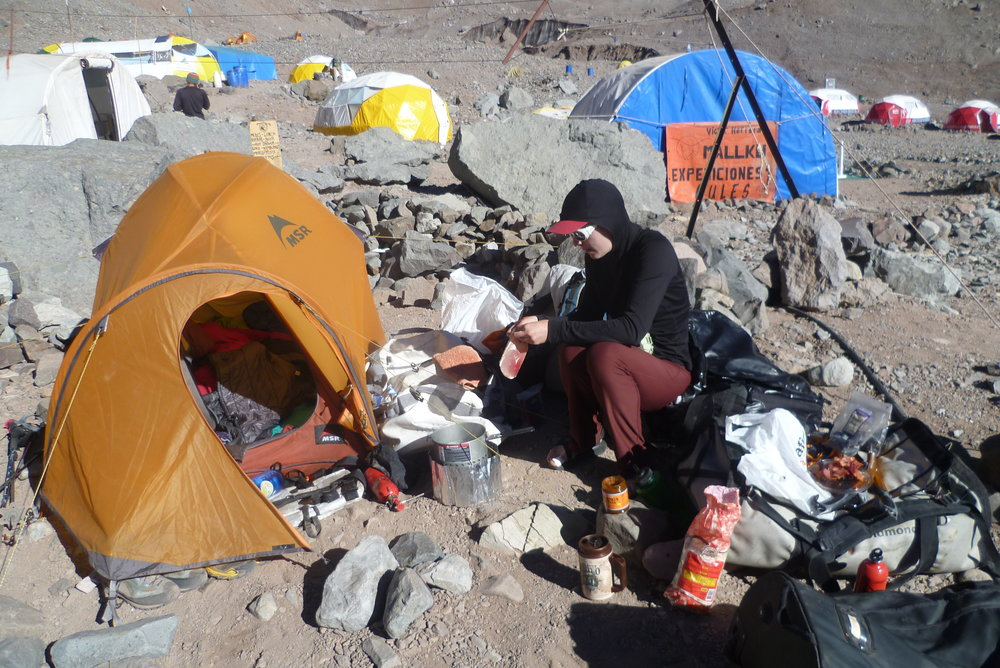 working hard to eat well, Aconcagua, 2012 cr. Chad Kellogg