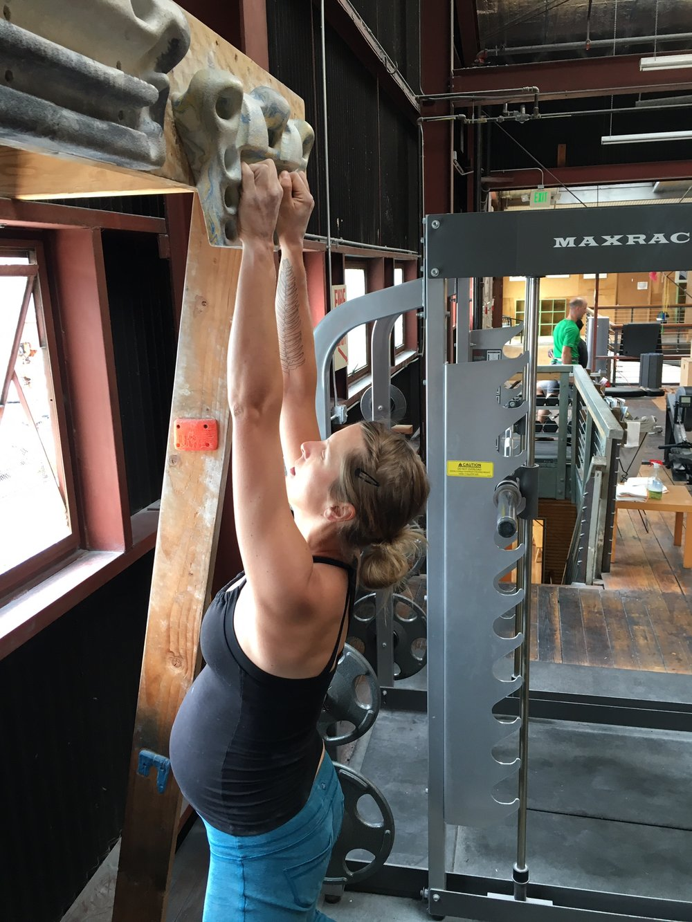 some crimpy pull-ups, 38 weeks pregnant