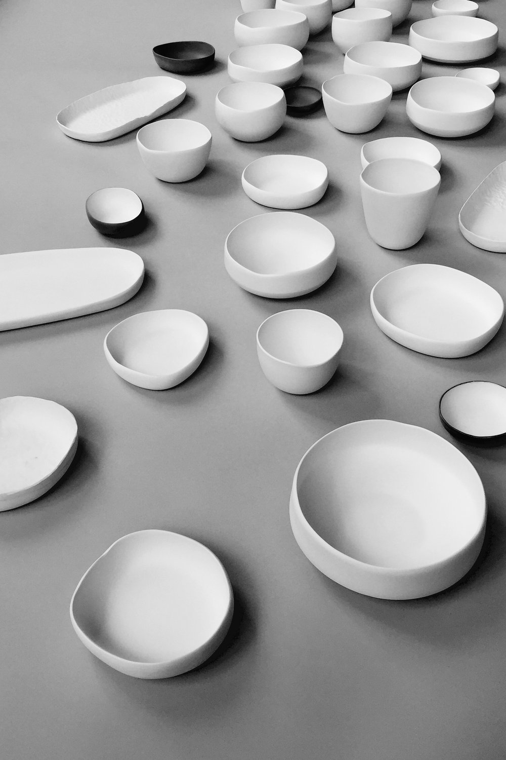 porcelain bowls in various forms and shapes by esselhaus