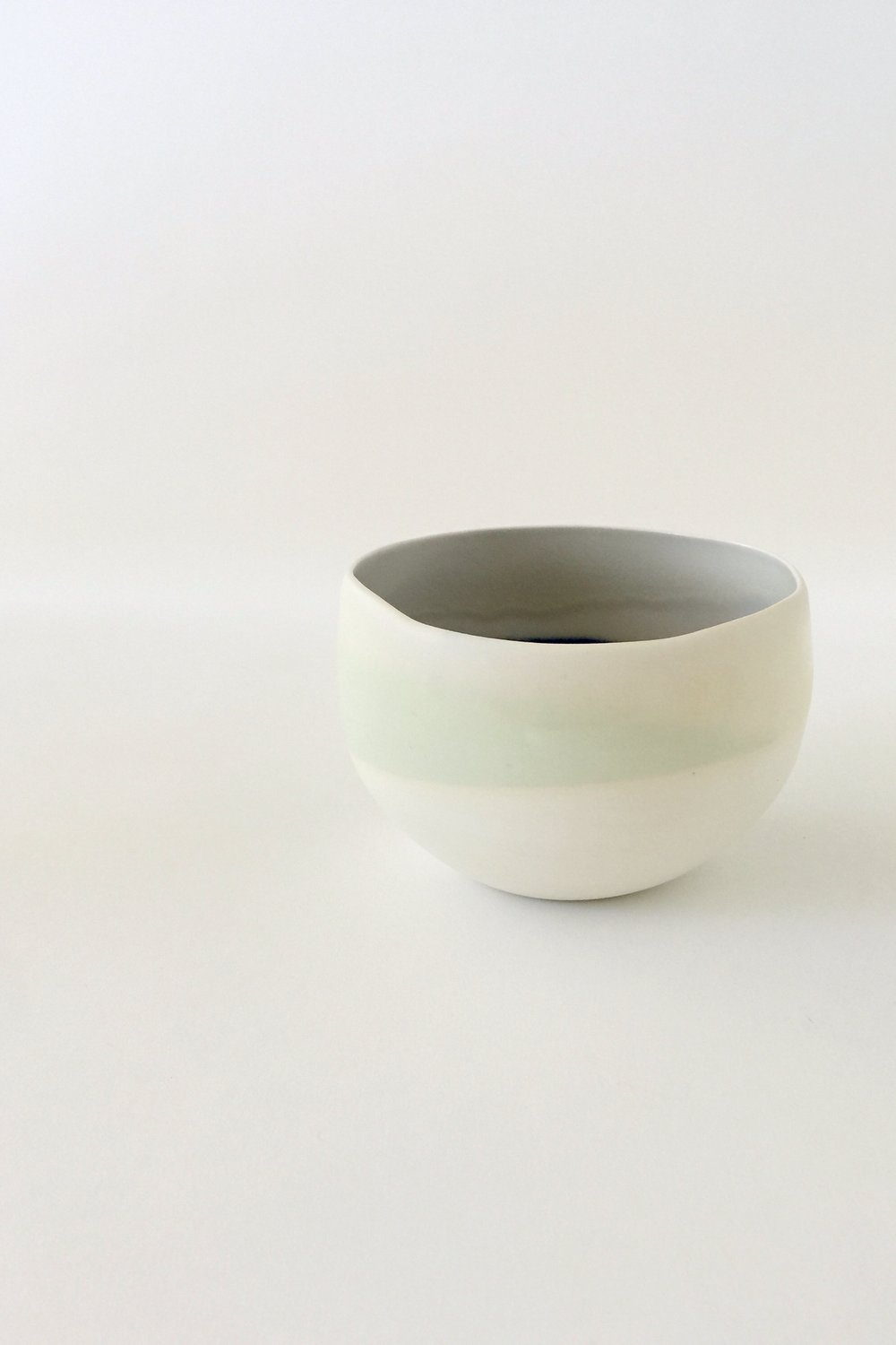 porcelain ceramic bowl in simple form & glaze by esselhaus