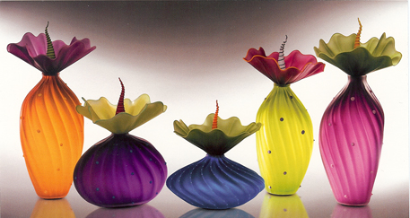 - These wonderful pieces of blown glass in botanical designs are called
