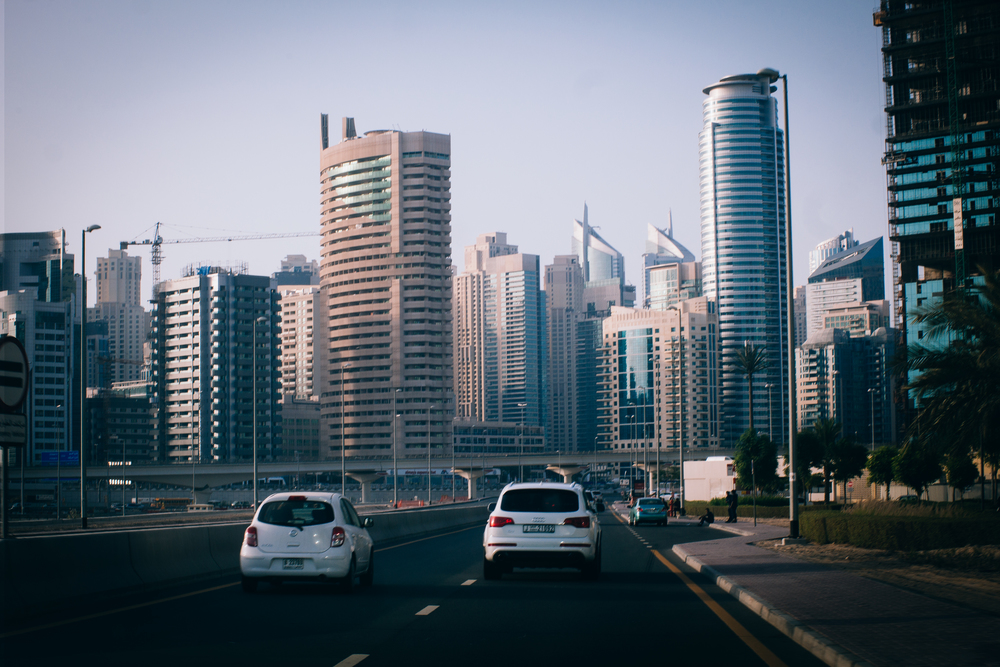 Dubai is an hour and a half journey away from Abu Dhabi on the 5-lane, 130km E11 Highway
