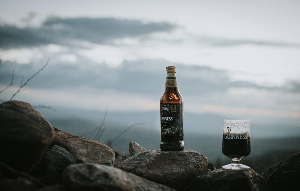 Guinness Bottle and glass Magadi