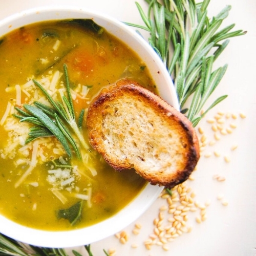 Vegetable wheat berry soup