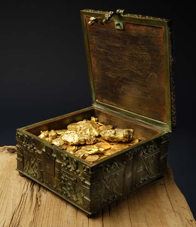 Forrest Fenns Treasure chest before he hid it in 2010.  $25K for the chest alone!