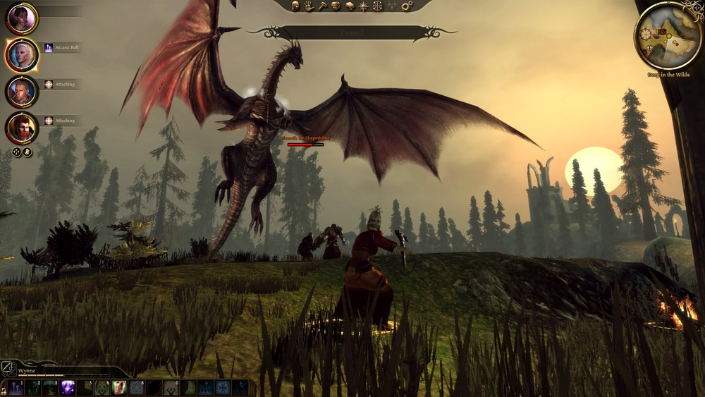 "Dragon Age: Origins.  As you can see, this is the ""dragon"" part of the game."