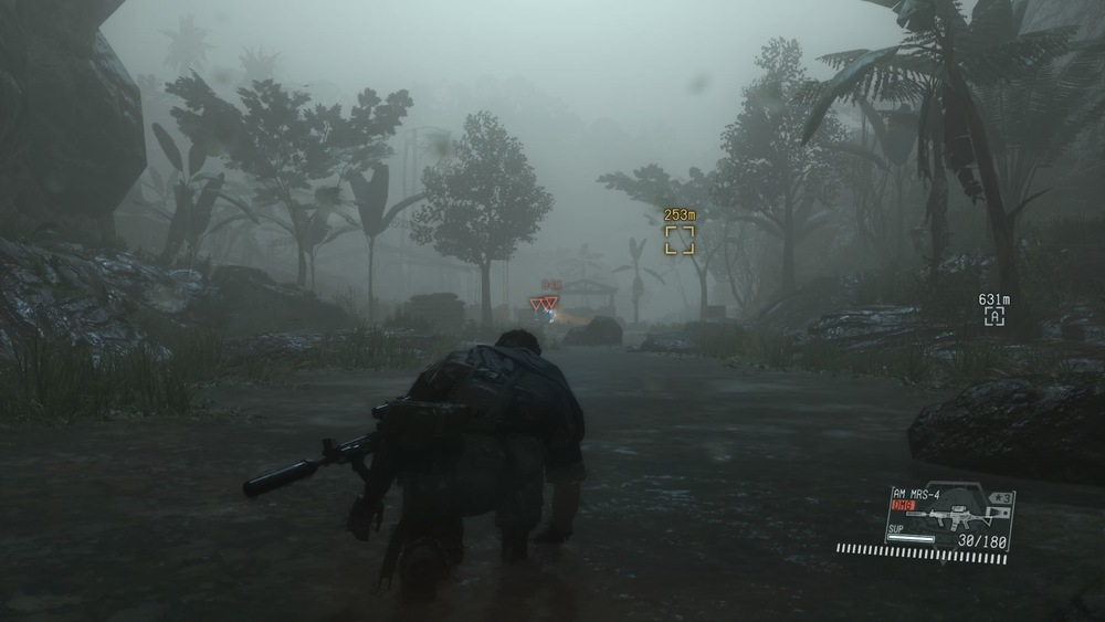 Another shot from MGS. Atmosphere is so important with adventure type games, its half the reason im still playing them. Im all 'Fuck this game, but look at how good it looks.' Look at how far we've come in only maybe 15 or so years. We use to use fog as a smokescreen for limited graphics processing. Now we put it there just cuz it looks cool. But fuck this game, read more about that  here