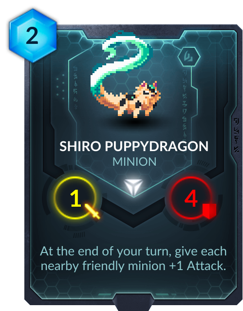 You know you've made it in the scene when cards are designed after not even you, but your famous dog.