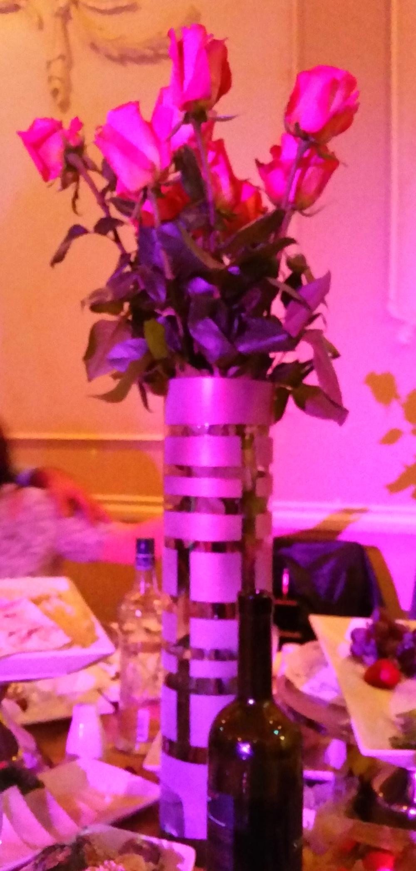 Tall rose vase