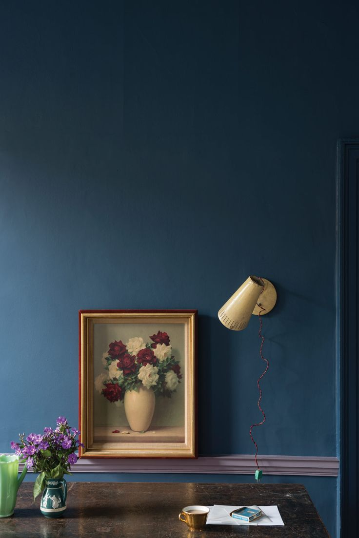 Stiffkey Blue,Farrow & Ball - I noticed this paint color in a magazine as we were traveling down to Florida last weekend, and to me it is the perfect moody blue. I would paint a dining room this color, and add brass wall sconces for a mysterious twinkle. Is it too early to be thinking about fall? I also envision a study painted this color where you can snuggle up in a comfy leather chair with a good book and a throw blanket on a brisk fall day.
