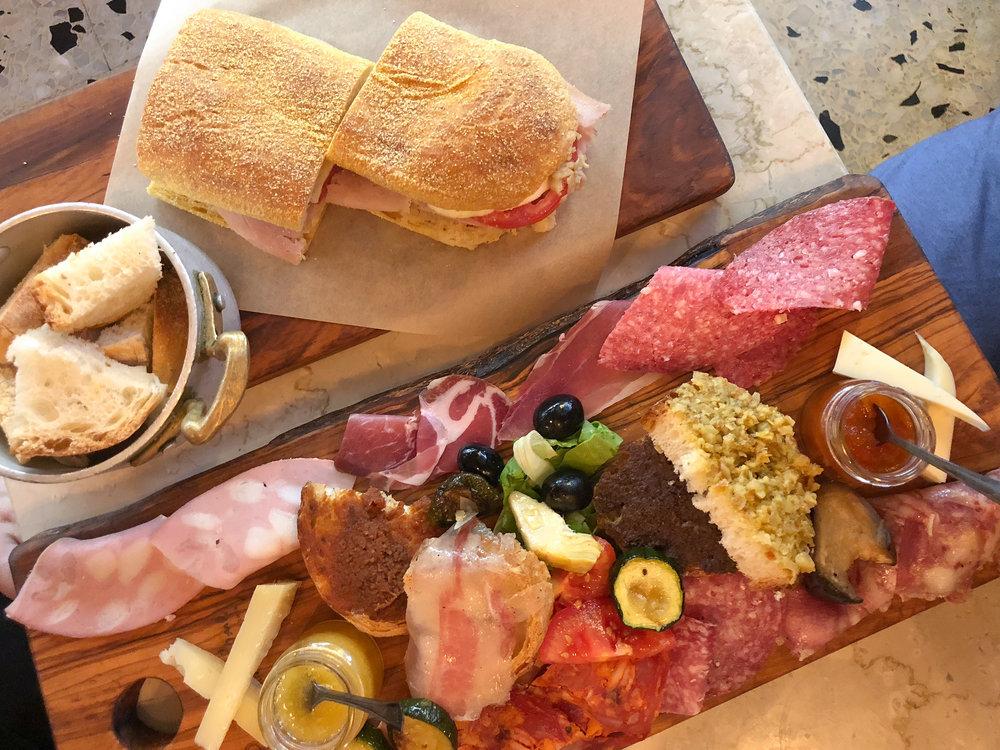 the spread at Pane e Salume