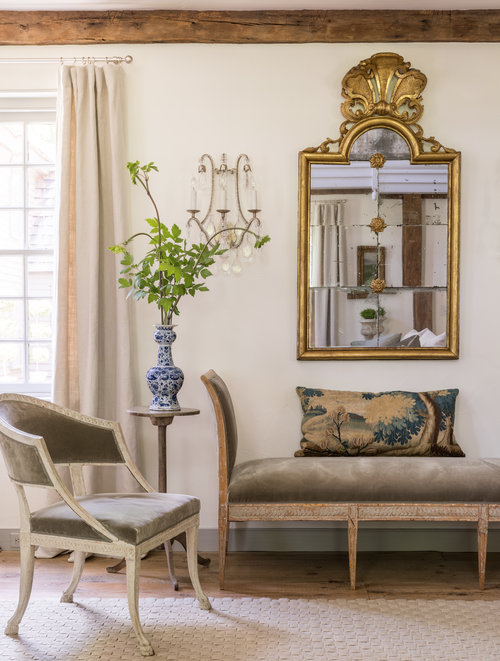 Gustavian style furniture in a Connecticut home designed by Gianetti Home; Image via Gianetti Home