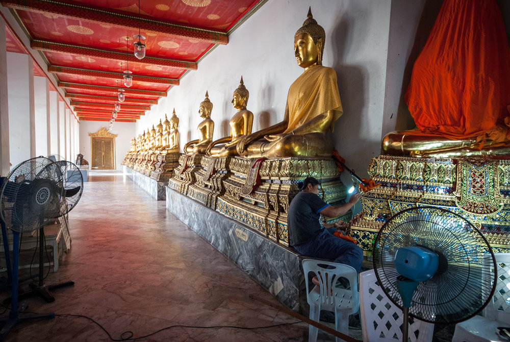 There are more than 40000 Buddhist temples (Thai: Wat) in Thailand, maintaining them all in good shape is a difficult task