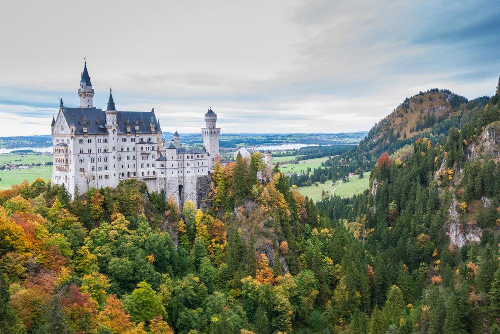 Neuschwanstein, or the so-called Disney Castle. Schwangau, Germany