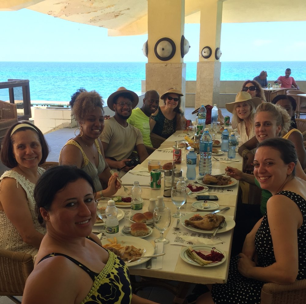 Lunch in Havana, Cuba With A Metamovements Dance Tour Group