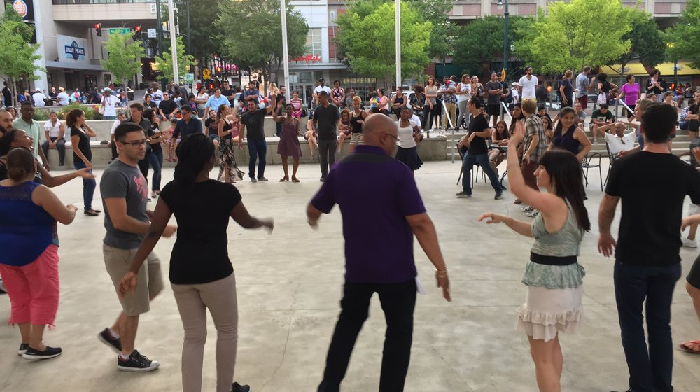 Outdoor Class At Veterans Plaza, Silver Spring MD