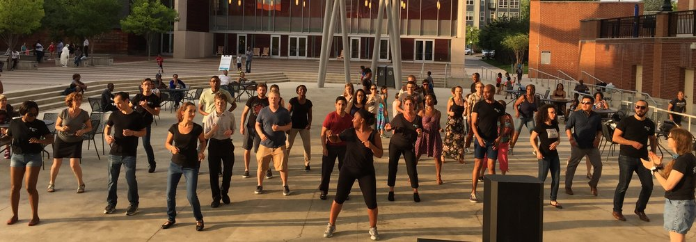 Salsa Footwork Lesson at Veteran's Plaza in Silver Spring, MD