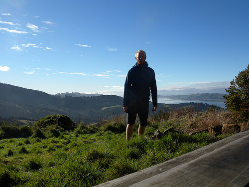 James posing somewhere in the South Island