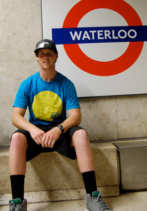 Cam Cole, Waterloo Station. Pic: Mio