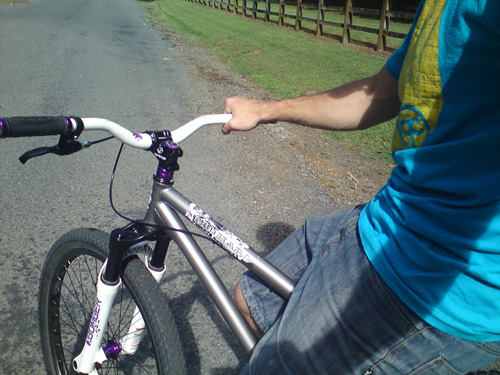 Afternoon skids on the hardtail.