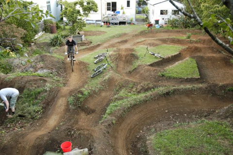 how to clear a trail for dirt jumps