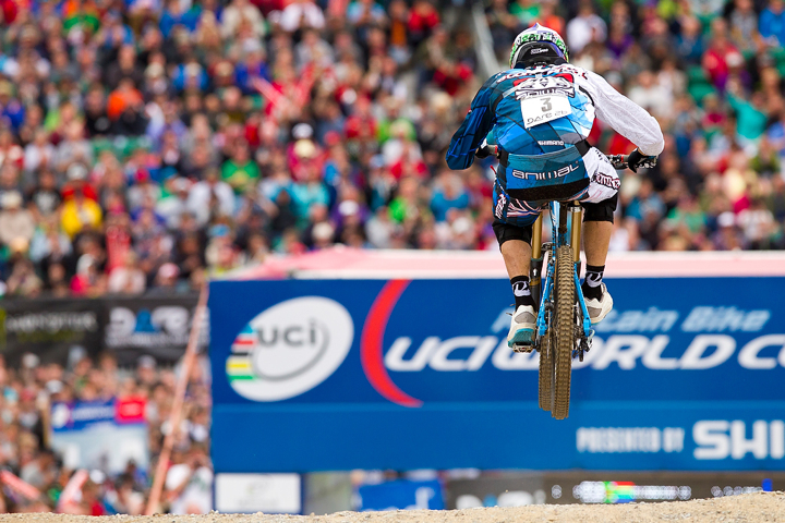 ,during the second UCI Downhill World Cup, Fort William, Scotland June 2011.