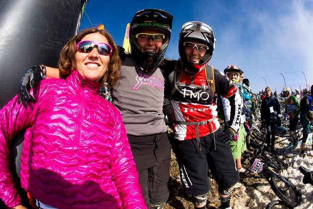 Sabbo, Tracy & I, getting ready to shred the MegAvalanche this year.