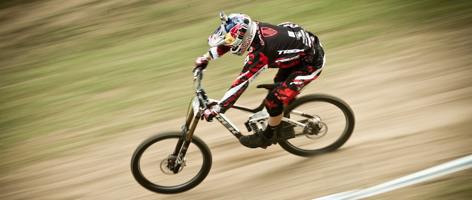 Aaron Gwin, during Val Di Sole UCI MTB World Cup, Italy. Downhill Round 2.