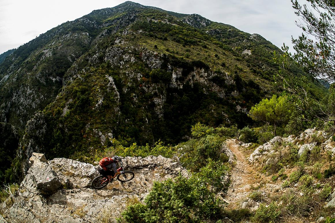 Anka navigates the beautiful and dangerous terrain on her way to victory. - All Photos by Sven Martin