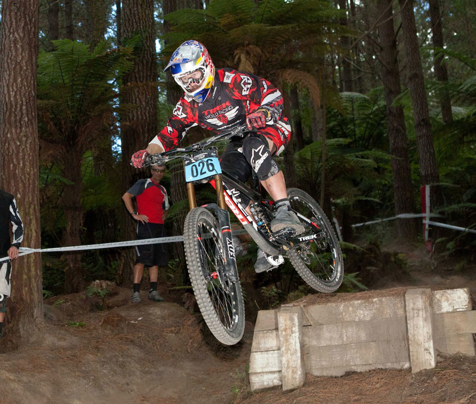 Brook McDonald in action at the 2013 Rotorua Bike Festival. Photo: Alan Ofsoski