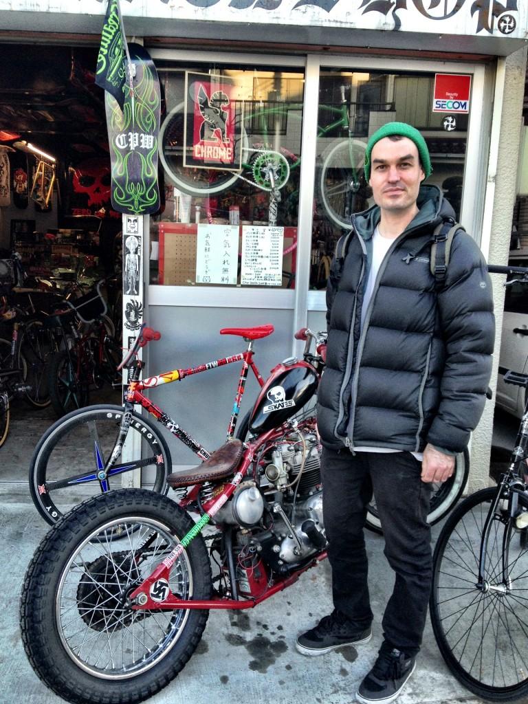 Mark Skulls visits CPW Skate Shop in Tokyo