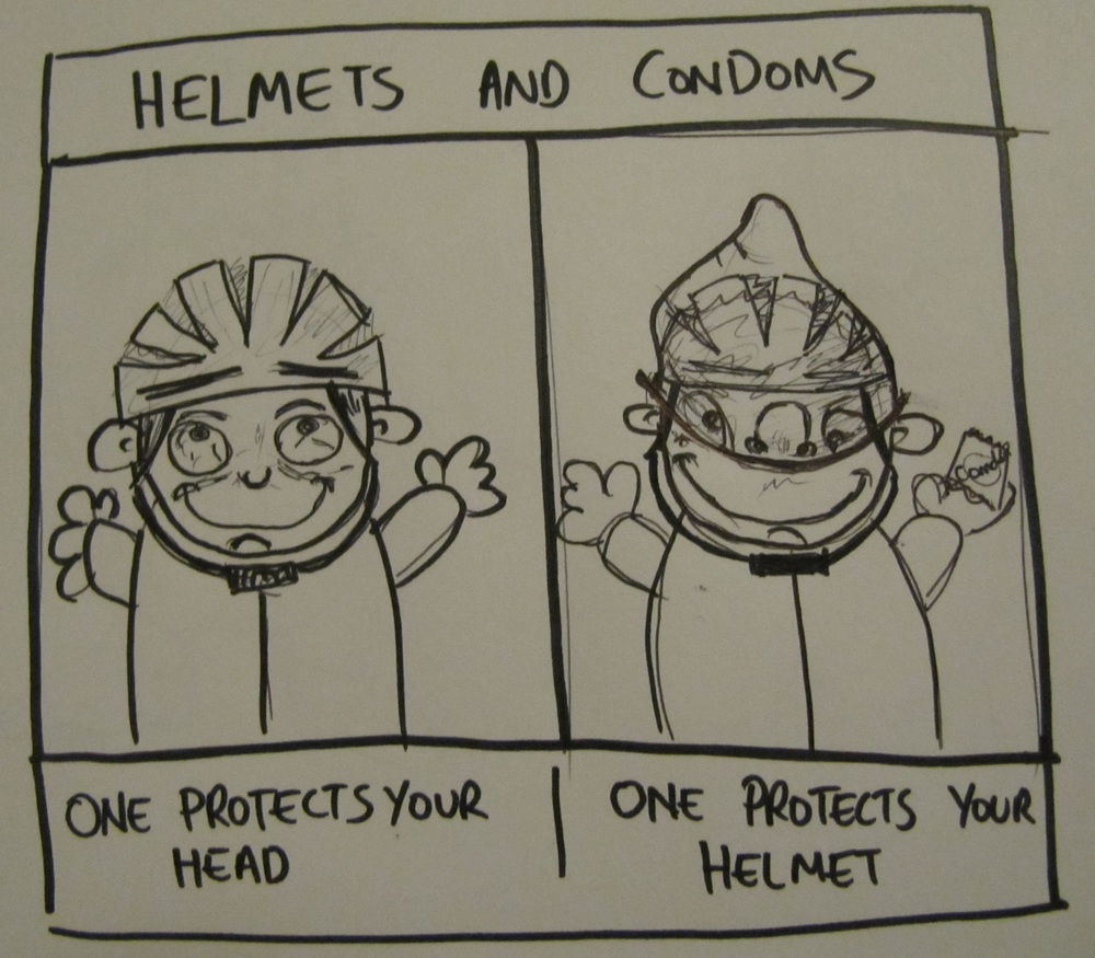 Helmets and Condoms