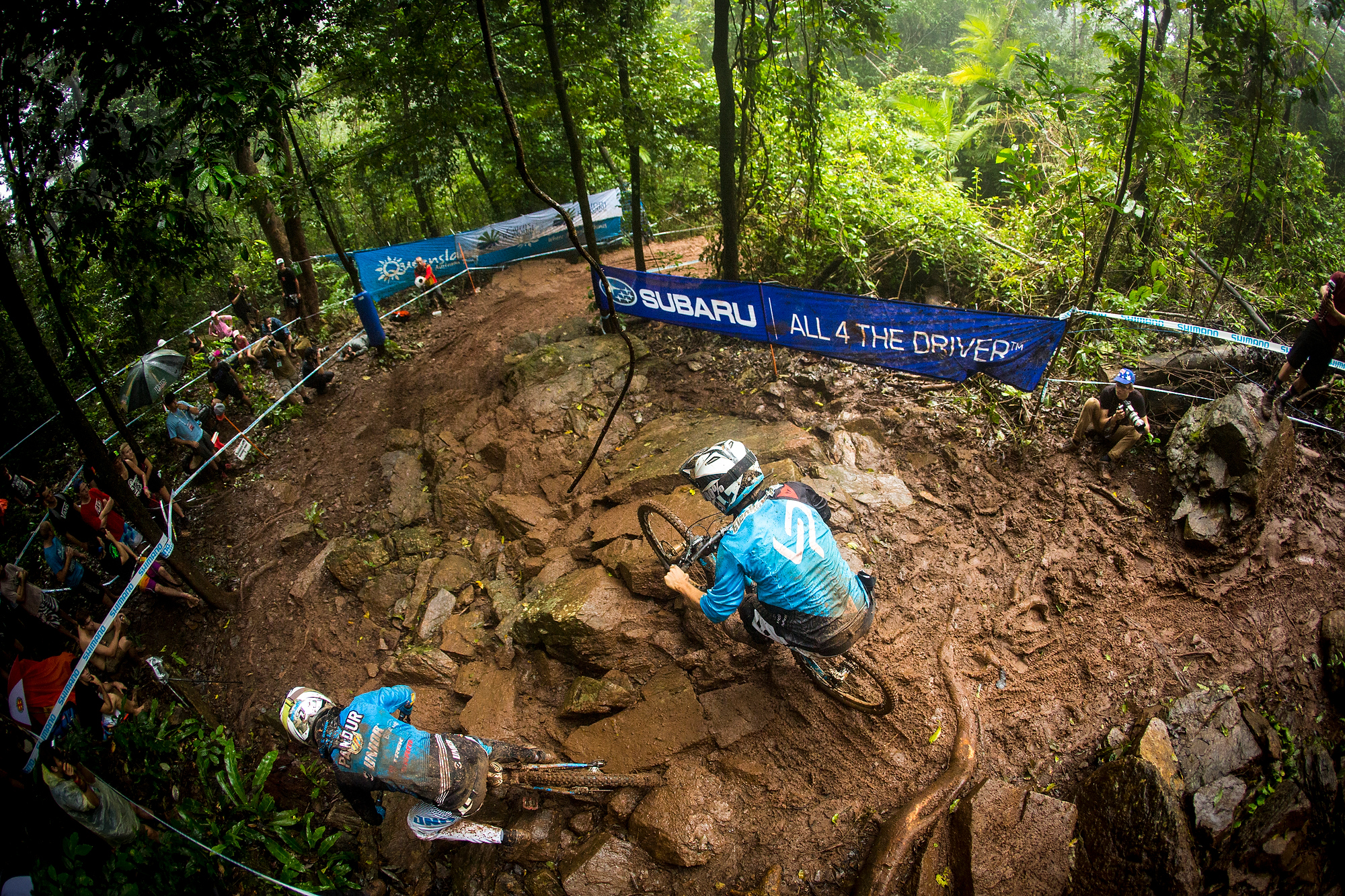 , during the second round of the UCI MTB World Cup, Cairns, Australia.