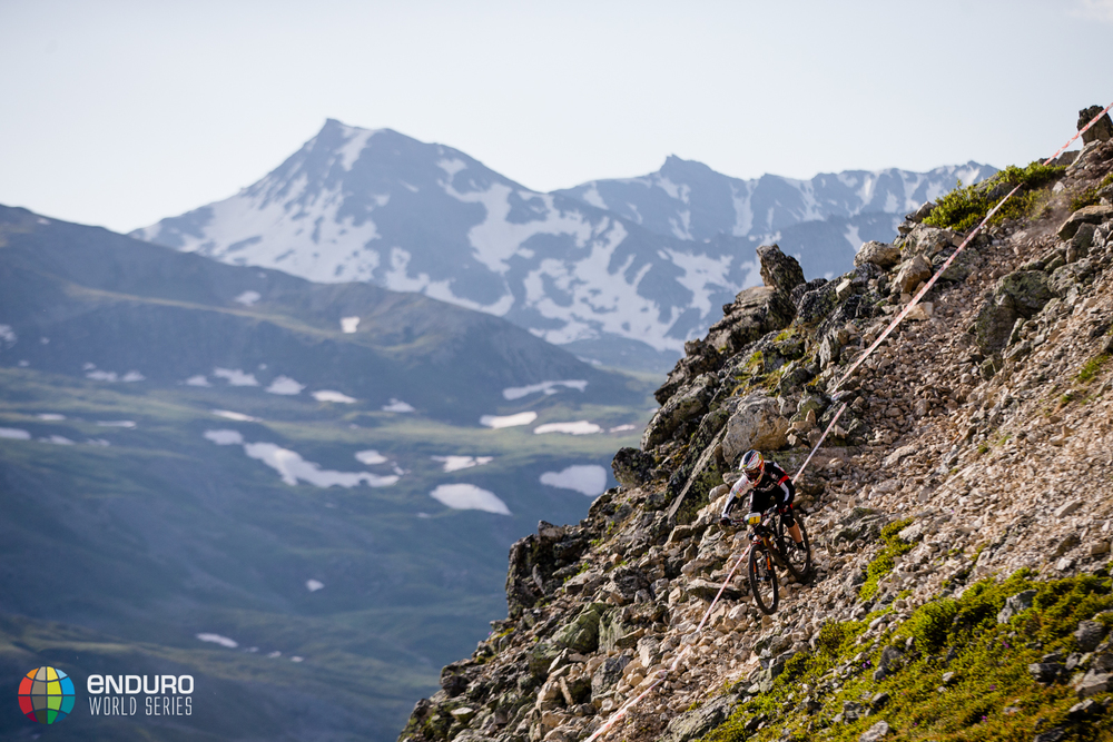 Tracy Moseley on stage 3, EWS round 3 2014, Valloire. Photo by Matt Wragg