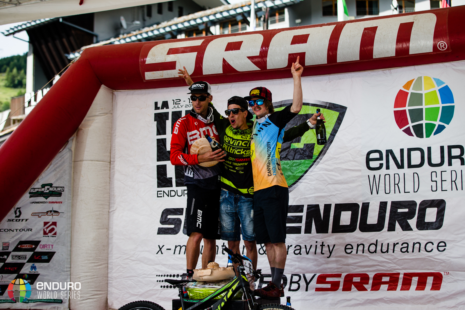 Mens podium. 4 2014, La Thuile. Photo by Matt Wragg.