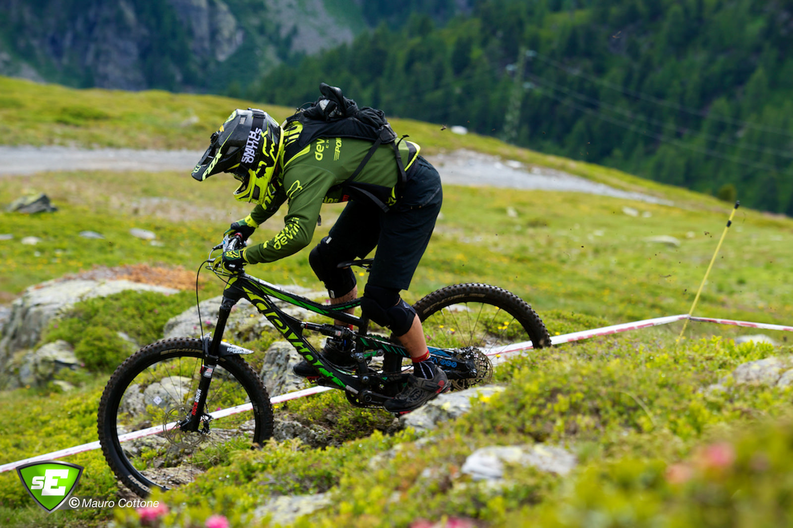 La Thuile EWS winner Damien Oton on the gas.