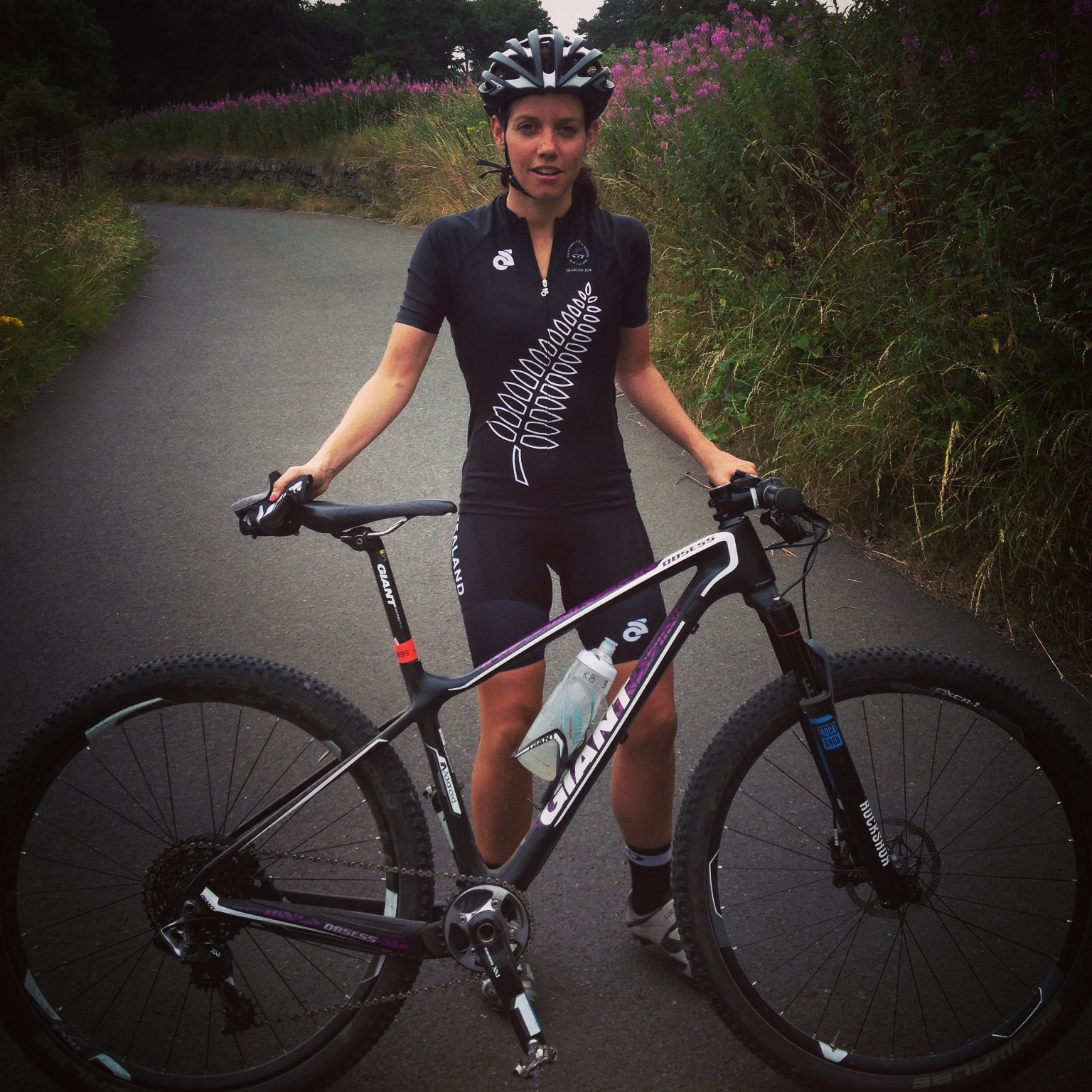 Snazzy new kit and Giant Obsess race bike ready to check out the track