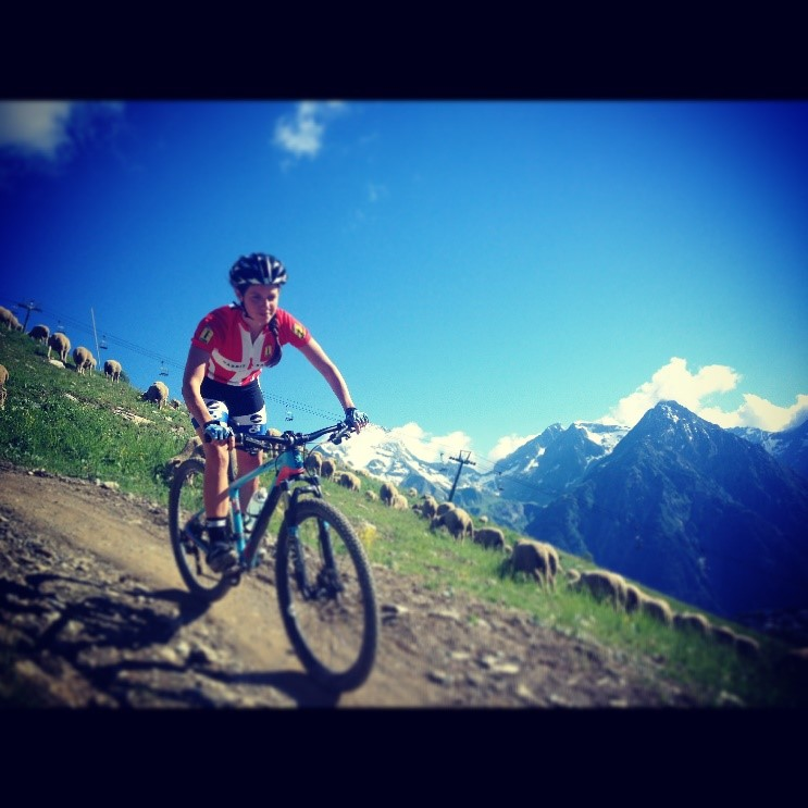Epic views while training in Les Deux Alpes