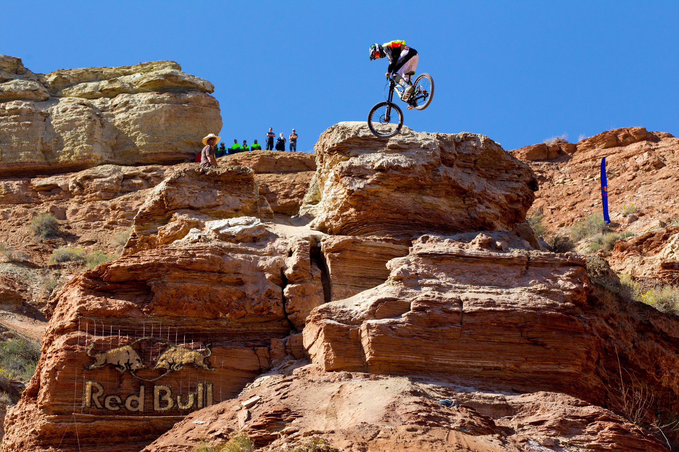 Cam Zink rides his bike at  Red Bull Rampage in Virgin, Utah, USA on 29