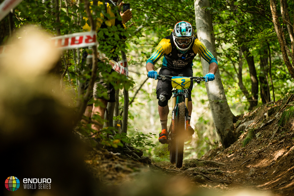 Jared Graves on stage five. EWS 7 2014, Finale Ligure. Photo by Matt Wragg